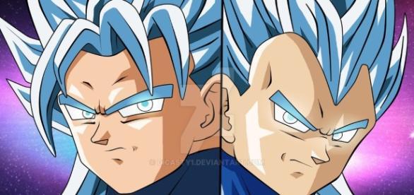 Fan art de Dicasty sobre Goku y Vegeta con una nueva transformación