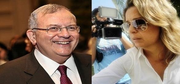 O embaixador grego e a viúva: Françoise teria encomendado a morte do marido