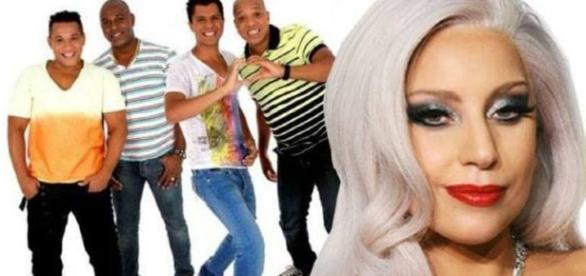 Grupo molejo tem música parecida com a de Lady Gaga.