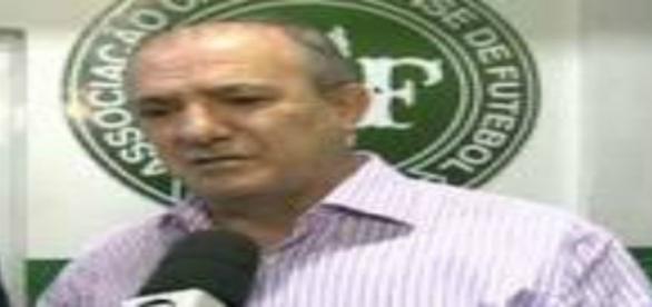 Ivan Tozzo, presidente em exercício da Chapecoense