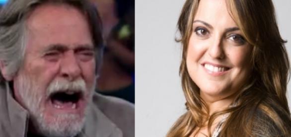 José de Abreu e Fabíola Reipert - Foto/Montagem