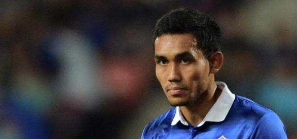 Teerasil Dangda of Thailand. AFF Suzuki Cup 2016 image sourced by Blasting News