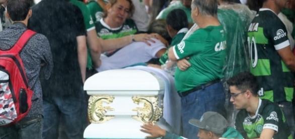 Velório de vítimas da Chapecoense - Foto/Reprodução