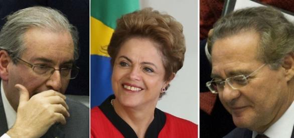Dilma, Cuna e Calheiros foram afastados