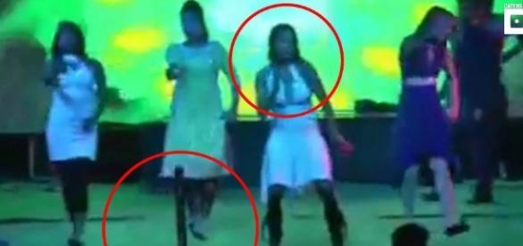 Grávida leva um tiro em apresentação de dança - Foto/The Sun