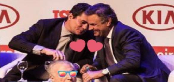 Aécio Neves e Sérgio Moro protagonizam polêmica - Foto/Twitter