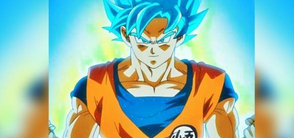 Goku en Super Saiyajin azul en el episodio 69