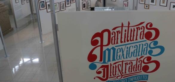 Las Partituras Mexicanas Ilustradas al centro del Museo de la Revolución en la Frontera.