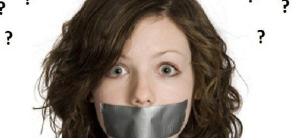Mulher sem direito à voz em uma relação