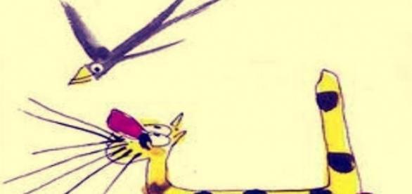 O Gato Malhado e a Andorinha Sinhá, ilustração de Carybé