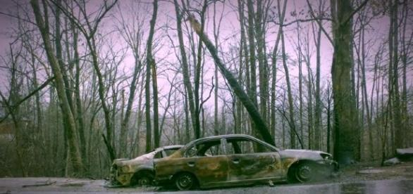 Gatlinburg Tennessee Wildfire Aftermath. / Photo screencap from Nighthawk Productions, via Youtube