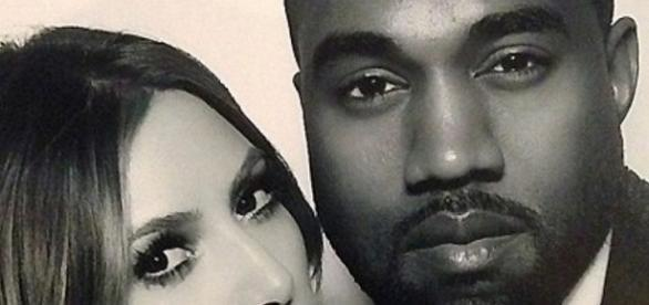 O badalado casal de famosos Kim Kardashian e Kanye West