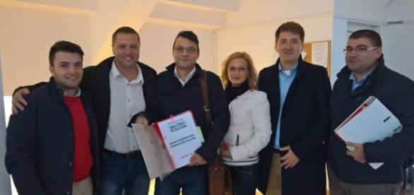 Bogdan Rodeanu alături de candidații USR de la Galați