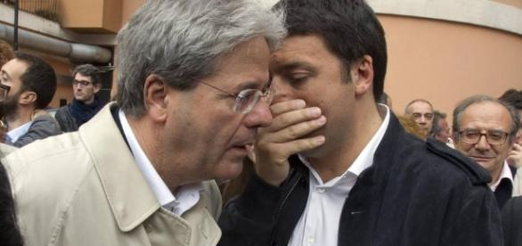 Gentiloni e Matteo Renzi (Foto: corriere.it)