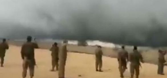 Mulți sunt de părere că furtuna este un semn de la Dumnezeu, care apără Israelul (Photo: Facebook/Israel News Online)