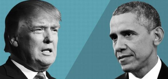 Spielt Obama foul gegen Trump? (Photoquelle/UrhG: Blasting.News Archiv)