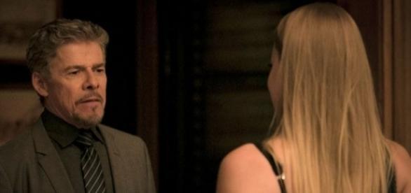 Tião e Jéssica em 'A Lei do Amor' (Divulgação)