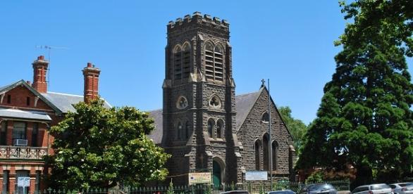 Fotografía de Ballarat con su Iglesia