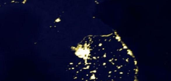 Korean Pernisula at Night (credit NASA)