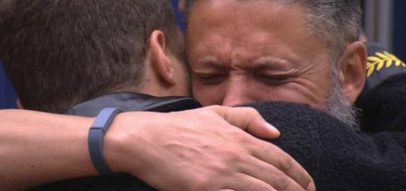 Laércio chora no BBB - Foto/Reprodução: Globo