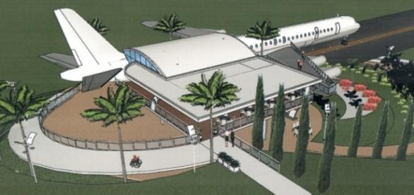 Plano piloto do restaurante-avião em MG.