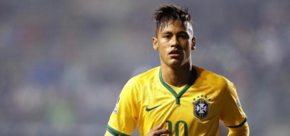 Reprodução/Internet - Neymar na seleção