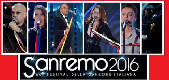 Sanremo 2016: nastri colorati arcobaleno