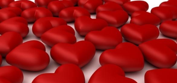 Torta al cioccolato di San Valentino.