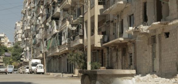 Aleppo w stanie ruiny po latach wojny