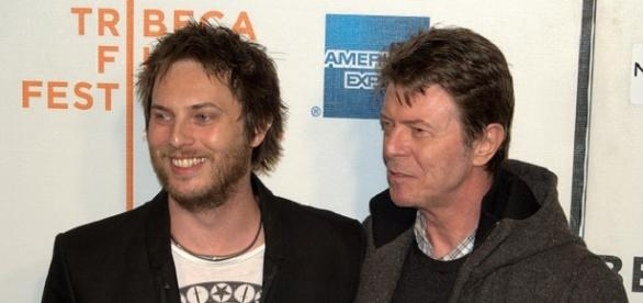 Bowie with his son, Duncan Jones