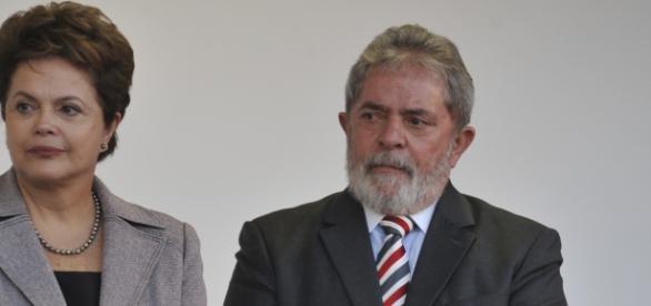 Em destaque, Dilma Rousseff e Lula da Silva.