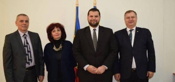 Eugen Popescu la numirea în funcție