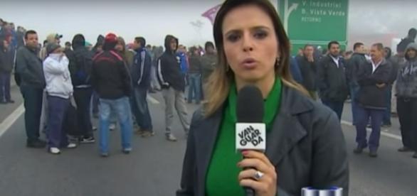 Mirella Bergamo na TV Vanguarda - Foto/Reprodução