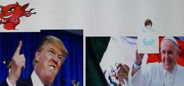 Opinion de Trump sobre la vista del Papa a México
