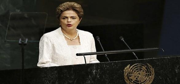 Dilma Rousseff em pronunciamento na ONU
