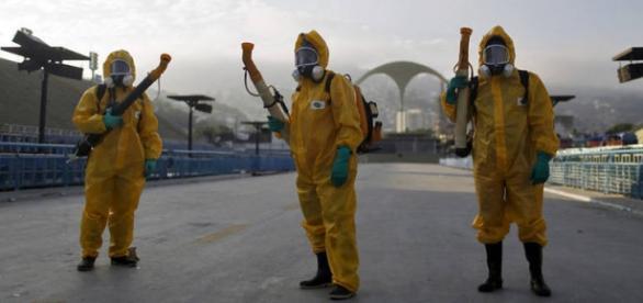 Funcionários do Rio de Janeiro para matar o Zika