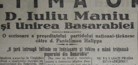 Ziarul Curentul, editia din 9 aprilie 1928