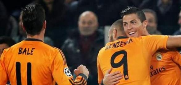 Bale, Benzema e CR7, o trio temível do Real Madrid