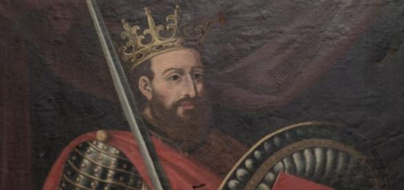 D. Afonso Henriques, primeiro rei de Portugal.
