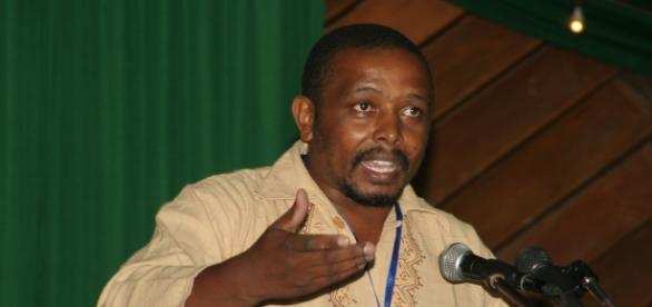 Mwangi Waituru at a poverty hearing event/N Waigwa