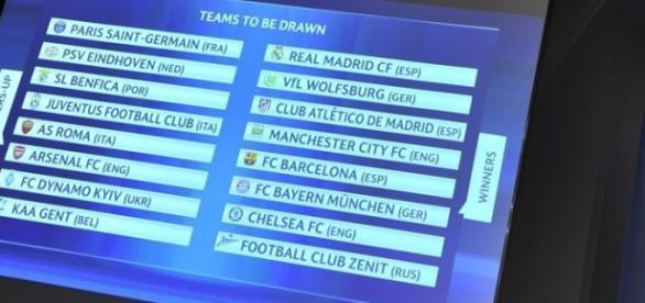 Sorteo de la Champions League.