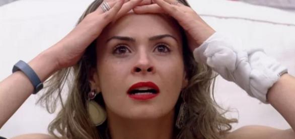 Ana Paula ao saber que continuaria no BBB