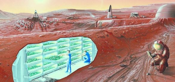 Concept of a Mars colony (Credit NASA)