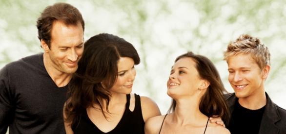 Gilmore Girls: Luke, Lorelai, Rory y Logan