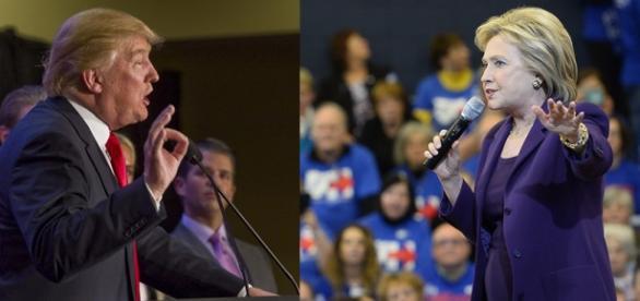 I candidati Donald Trump e Hillary Clinton