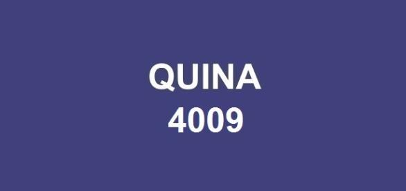 Prêmio Quina 4009 totalizou mais de R$ 1 milhão.