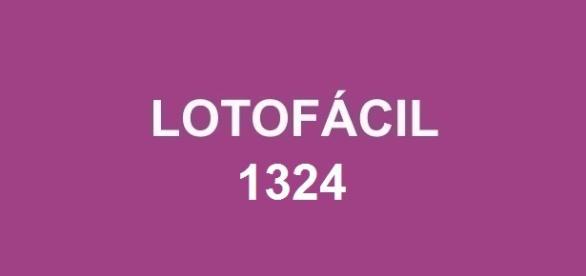 Divulgado o sorteio da Lotofácil 1324.
