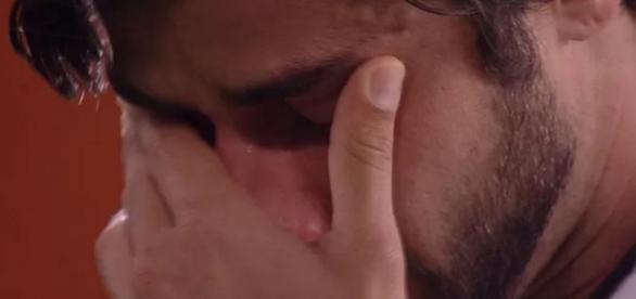 Renan chora no Big Brother - Foto/Reprodução