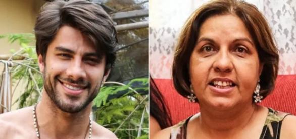 Renan e Carmen, sua mãe - Foto/Montagem