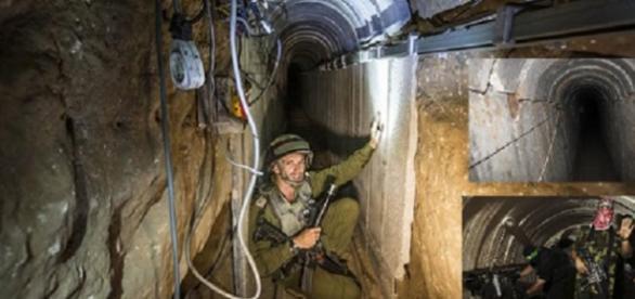 túneles de Hamas en la Franja de Gaza